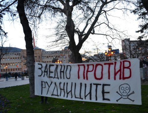 Поддршка од група активисти, заедно против рудниците на смртта
