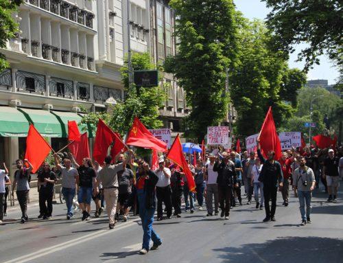 Првомајски протести на пет страни, за првпат еден организиран од партија на трудот