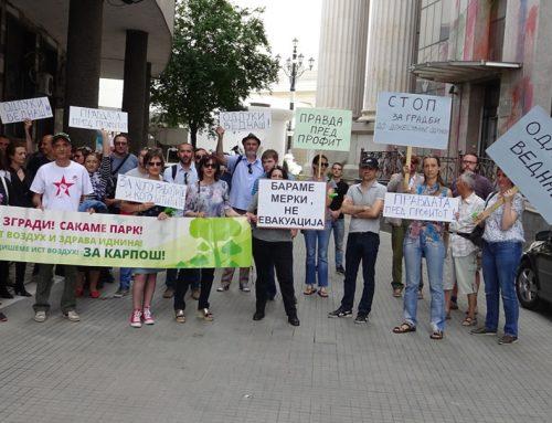 """(Видео) Карпошани до Уставен суд: """"Запрете ги спорните градби, до донесување на одлука"""""""