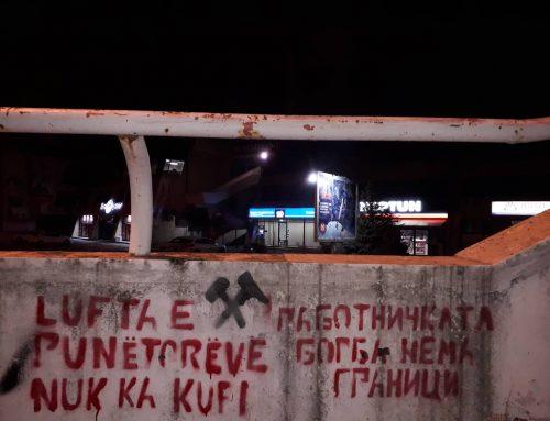 Солидарност со штрајкот на рударите во Булќиза, Албанија