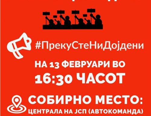 Денес во 16:30 протест против насилството на контролорите од ЈСП